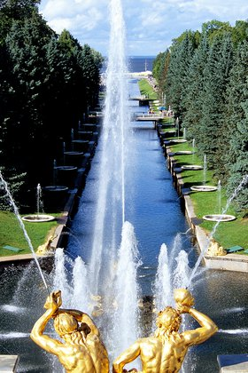 Peterhof; Fountains and Gardens